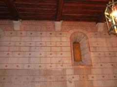 Vestiges de la citadelle gallo-romaine de Vésone - Décor peint dans la grande salle à l'étage de l'hôtel d'Angoulême, Périgueux, Dordogne, France.