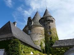 Château de la Chapoulie - Français:   Les tours du château de la Chapoulie, Peyrignac, Dordogne, France.