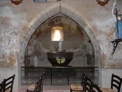 Eglise Notre-Dame de la Nativité - Français:   Chapelle latérale de l\'église Notre-Dame-de-la-Nativité, Pressignac-Vicq, Dordogne, France.