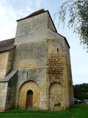 Eglise Notre-Dame de la Nativité - Français:   Le chevet de l\'église Notre-Dame-de-la-Nativité, Pressignac-Vicq, Dordogne, France.