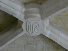 Eglise Notre-Dame de la Nativité - Français:   Clé de voûte dans l\'église Notre-Dame-de-la-Nativité, Pressignac-Vicq, Dordogne, France.
