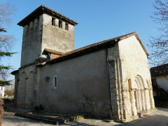 Eglise Saint-Pierre de Faye - Français:   L\'église Saint-Pierre de Faye vue depuis le nord-ouest, Ribérac, Dordogne, France.