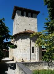 Eglise Saint-Pierre de Faye - Français:   Le chevet de l\'église Saint-Pierre de Faye, Ribérac, Dordogne, France