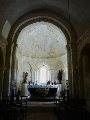 Eglise Saint-Pierre de Faye - Français:   Le chœur de l\'église Saint-Pierre de Faye, Ribérac, Dordogne, France