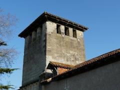 Eglise Saint-Pierre de Faye - Français:   Vu depuis le nord-ouest, le clocher de l\'église Saint-Pierre de Faye, Ribérac, Dordogne, France.