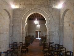 Eglise Saint-Pierre de Faye - Français:   Le chœur et la nef de l\'église Saint-Pierre de Faye, Ribérac, Dordogne, France.