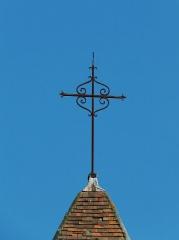 Ancienne église Notre-Dame - Français:   La croix du clocher, ancienne église Notre-Dame, Ribérac, Dordogne, France.
