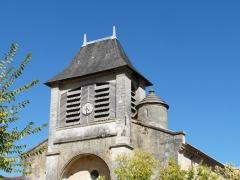 Eglise Saint-Germain de Rouffignac - Français:   Le clocher de l\'église Saint-Germain de Paris vu du sud-ouest, Rouffignac-Saint-Cernin-de-Reilhac, Dordogne, France.