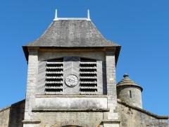 Eglise Saint-Germain de Rouffignac - Français:   Le côté ouest du clocher de l\'église Saint-Germain de Paris, Rouffignac-Saint-Cernin-de-Reilhac, Dordogne, France.