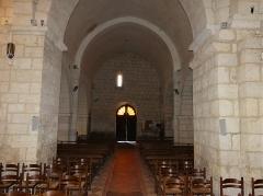 Eglise Sainte-Eulalie - Français:   La nef de l\'église de Saint-Aulaye, Saint Aulaye-Puymangou, Dordogne, France.