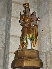 Eglise Sainte-Eulalie - Français:   Statuette dans l\'église de Saint-Aulaye, Saint Aulaye-Puymangou, Dordogne, France.