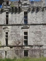 Château de Fages - Français:   Saint-Cyprien - Château de Fages - Détail de la façade Renaissance côté ouest