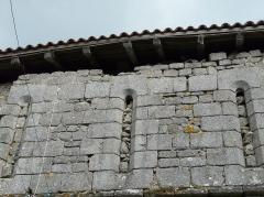 Restes du prieuré de Badeix - Français:   Anciennes ouvertures comblées, ancien prieuré de Badeix, Saint-Estèphe, Dordogne, France.