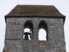 Eglise Sainte-Innocente - Français:   Le clocher de l\'église, Sainte-Innocence, Dordogne, France.