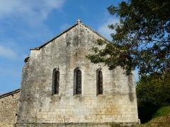 Eglise Saint-Martial - Français:   Le chevet plat de l\'église Saint-Martial, Saint-Martial-de-Valette, Dordogne, France.