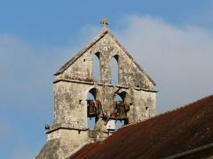Eglise Saint-Martial - Français:   Le clocher-mur de l\'église Saint-Martial, Saint-Martial-de-Valette, Dordogne, France.