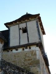 Château de Fénelon - Pigeonnier d'angle de la métairie de Fraysange, Sainte-Mondane, Dordogne, France.