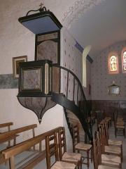 Eglise Saint-Ours - Français:   La chaire de l\'église Saint-Ours, Sainte-Orse, Dordogne, France