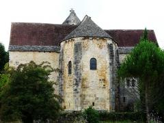 Eglise Saint-Ours - Français:   Le chevet de l\'église Saint-Ours, Sainte-Orse, Dordogne, France