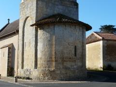 Eglise Saint-Vincent - Français:   L\'abside de l\'église Saint-Vincent, Saint-Vincent-Jalmoutiers, Dordogne, France.