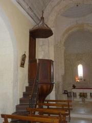 Eglise Saint-Vincent - Français:   La chaire de l\'église Saint-Vincent, Saint-Vincent-Jalmoutiers, Dordogne, France.