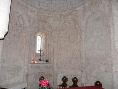 Eglise Saint-Vincent - Français:   Détail du chœur de l\'église Saint-Vincent, Saint-Vincent-Jalmoutiers, Dordogne, France.
