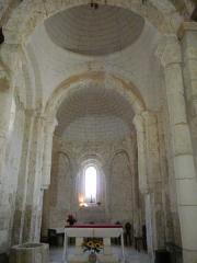 Eglise Saint-Vincent - Français:   Le chœur de l\'église Saint-Vincent, Saint-Vincent-Jalmoutiers, Dordogne, France.