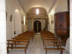 Eglise Saint-Vincent - Français:   La nef de l\'église Saint-Vincent, Saint-Vincent-Jalmoutiers, Dordogne, France.