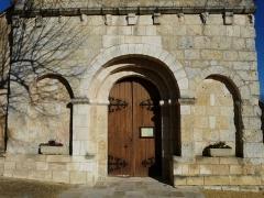 Eglise Saint-Vincent - Français:   Portail de l\'église Saint-Vincent, Saint-Vincent-Jalmoutiers, Dordogne, France.