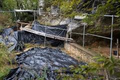 Gisement préhistorique de la Ferrassie - Deutsch: Die Grabungsflächen 2010-2014 der Fundstelle La Ferrassie bei Le Bugue in Frankreich.