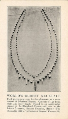 Abri Blanchard - English: Worlds Oldest Necklace