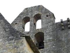 Eglise Saint-Pantaléon - Le clocher-mur de l'église Saint-Pantaléon de Sergeac, Dordogne, France.
