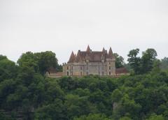 Château de Marzac - Deutsch: Blick von Tursac auf das Schloss Marzac
