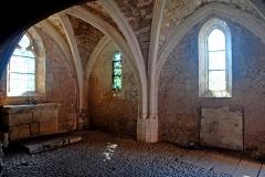 """Gisement préhistorique de la Madeleine - Deutsch: Archäologischer Fundplatz """"La Madeleine"""" in Frankreich: Kapelle St.-Madeleine, gotisches Gewölbe"""