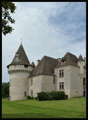 Domaine du Château de Bridoire - Français:   Domaine du château de Bridoire, village de Ribagnac, département de la Dordogne - Façade sud
