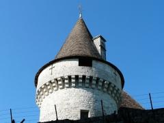 Domaine du Château de Bridoire - Français:   Une tour du château de Bridoire, Ribagnac, Dordogne, France