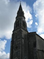 Eglise paroissiale Saint-Germain -  Clocher de l'église Saint-Martin à Arsac (33).