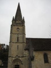 Eglise Saint-Saturnin - Français:   Clocher de l\'église Saint-Saturnin de Baurech (gironde).