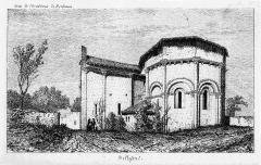 Eglise Saint-Eutrope et ancien prieuré - French historian, archaeologist and engraver
