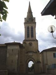 Eglise Notre-Dame de Bernos - English: Bernos-Beaulac (Gironde Fr) church of Bernos
