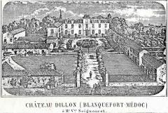 Château Dillon - English: Dillon castle, Blanquefort; 19th century picture.