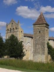 Ancienne église abbatiale Saint-Maurice, actuelle église Saint-Nicolas - Deutsch: Westseite Abtei St Maurice de Blasimon, Aquitanien