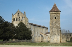 Ancienne église abbatiale Saint-Maurice, actuelle église Saint-Nicolas - Deutsch: Abtei Saint-Maurice de Blasimon in Blasimon im Département Gironde (Région Aquitaine/Frankreich)