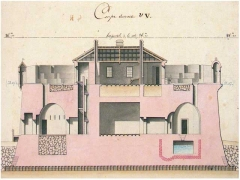 Fort Paté - Français:   Vue en coupe du fort Paté sur la Gironde en France.