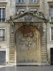 Fontaine -  Place Saint-Project; Fountain (around 1715), Bordeaux, Aquitaine, France