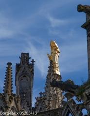 Tour Pey-Berland -  Vierge à l'Enfant de la Tour Pey Berland de la cathédrale Saint-André de Bordeaux (33).