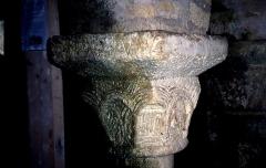 Eglise de la Libarde - English: Chapiteau crypte de la Libarde