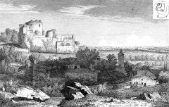Restes du château - English: Castele of Langoiran (Gironde, France)