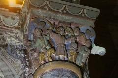 Eglise Saint-Martin - Italiano: Sacrificio di Isacco - Capitello romanico