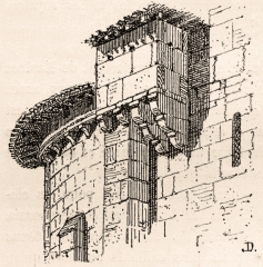 Eglise Saint-Pierre - English: Bartizan of Saint Martin church of Martres (Gironde, France)